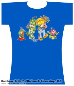Raver Dance Patty and Rainbow Brite Changes Tee Blue