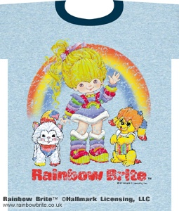 Weathered Kitty Puppy and Rainbow Brite Tee