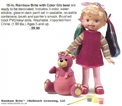15 in Rainbow Brite with Color Glo Bear