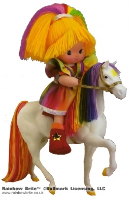 Dress up Rainbow Brite Doll and Starlite Horse